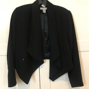 Cute Black Blazer with Detail in Front